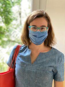 Sara Vitali con maschera COVID fotografata a Maggio 2020