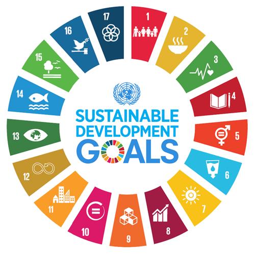 il cerchio dei 17 obiettivi di sviluppo di agenda 2030
